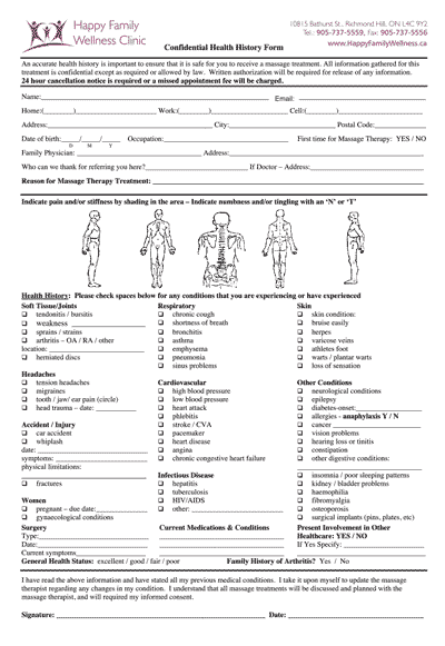 Patient Forms Happy Family Wellness